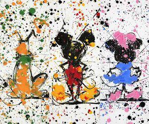 art, disney, and minnie image