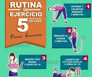 exercise, fitness, and routine image