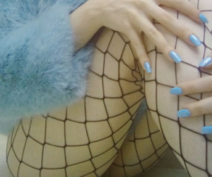 blue, aesthetic, and nails image