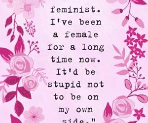 pink, feminism, and feminist image