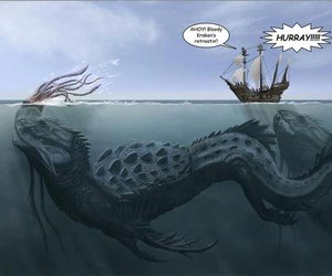 monster, sea, and kraken image