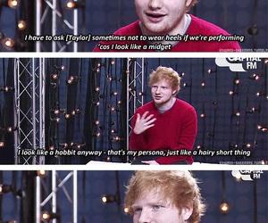 ed sheeran, funny, and Taylor Swift image