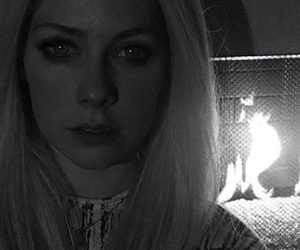 Avril Lavigne, fire, and twilight image