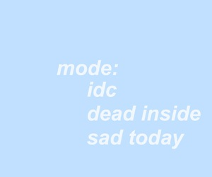 quote, blue, and sad image