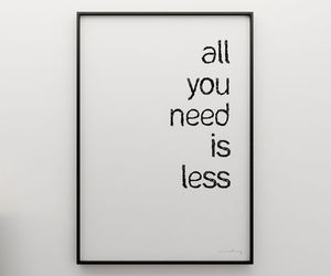 quote, less, and need image