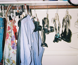 camera, clothes, and vintage image