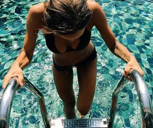 bikini, black, and girl image