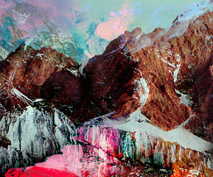 mountains, art, and landscape image