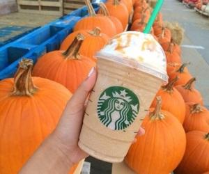 starbucks, pumpkin, and fall image
