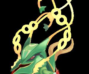 chibi, rayquaza, and pokemon image