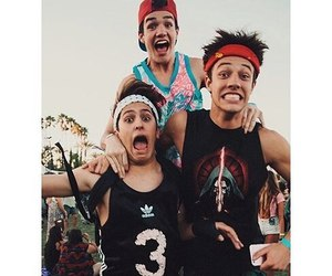 coachella, cameron dallas, and aaron carpenter image