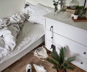 white, plants, and room image