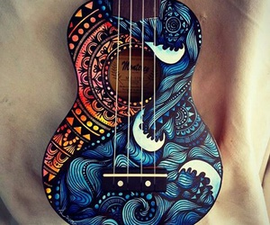 guitar, music, and art image
