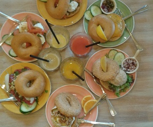 bagels, food, and healthy image