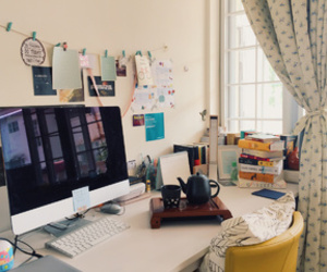 desk, study, and office image
