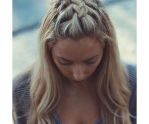 blonde, braid, and braiding image
