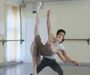 romance, ballet, and couple image