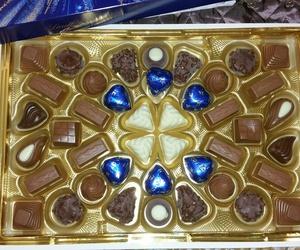blue, yummy, and chocolate image