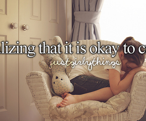 girl, cry, and just girly things image