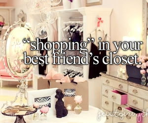 best friends, shopping, and justgirlythings image