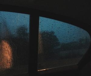 car, dark, and rain image