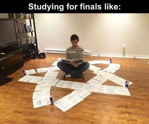 final, funny, and exam image