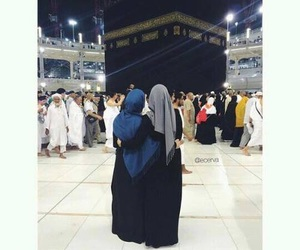 hijab and mecca image