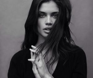 model, sara sampaio, and black and white image