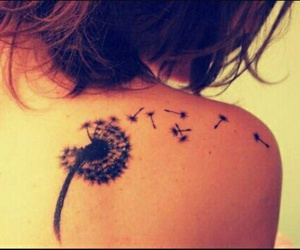dandelion and shoulder tattoo image