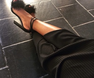 black, sexy, and shoes image