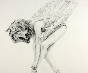 wolf, ballet, and ballerina image