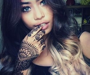 girl, moroccan, and tattoo image