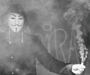 anarchy, anonymous, and creepy image
