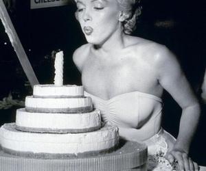 Marilyn Monroe, cake, and birthday image