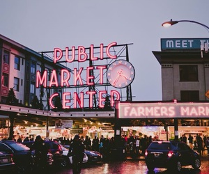 light, neon, and seattle image