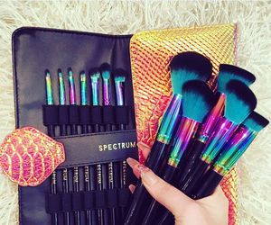 makeup, Brushes, and spectrum image