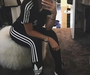 adidas, kylie jenner, and outfit image