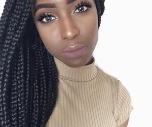 braids and black girl make up image