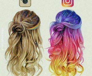 beautiful, cabelo, and color image