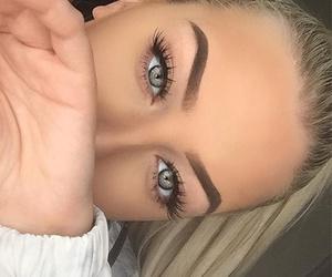 eye, eyes, and hair image