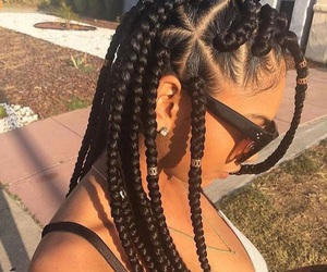black girl, braids, and hair jewelry image
