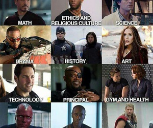 school, Marvel, and Avengers image