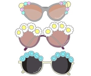 overlay, flowers, and glasses image