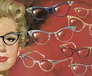 vintage, glasses, and retro image