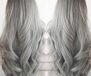 fashion, cabello, and gray image