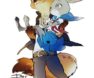 couple, pixiv, and nick wilde image
