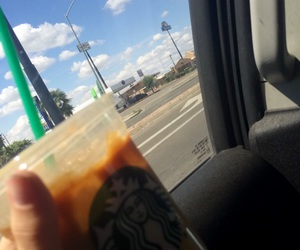 softball, starbucks, and carmel macchiato image