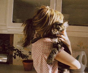 cat, girl, and photo image