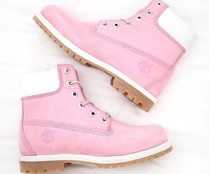 boots, pink, and pink boots image