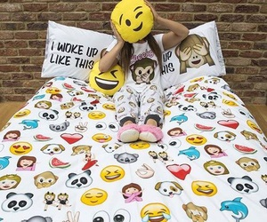emoji, emojis, and bed image